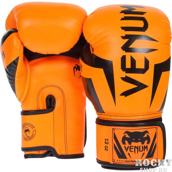 Боксерские перчатки Venum Elite, 12 oz VenumБоксерские перчатки<br>Боксерские перчатки Venum Elite. Боксёрские перчатки высокого класса, которые хорошо защищают руку их владельца. Выполнены с учетом всех законов эргономики. Идеально сочетание стиля и комфорта. Эти боксерские перчатки Venum были выбраны такими профессионалами своего дела как Вандерлей Силва, Карлос Кондит, Лиото Мачида, Фрэнки Эдгар и многими другими. Высококачественный наполнитель(пена) снижает силу удара, тем самым защищает кисть бойца и лицо его партнера. Широкая застежка, обеспечивающая надежную фиксацию перчаток Venum на запястье. Так же застежка снабжена резиновой вставкой, для регулирования обхвата кисти. Очень качественно сделанные швы. Внешний материал перчаток для бокса Venum Elite - Premium Skintex leather.<br>