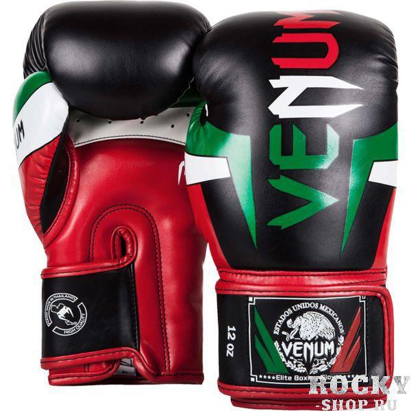 Боксерские перчатки Venum Mexique, 14 унций VenumБоксерские перчатки<br>Боксерские перчатки Venum Mexique. Классические перчатки для бокса, муай тай, ММА. Предназначены главным образом для работы в спаррингах. очень хорошо сидят на руке. Широкая застежка обеспечивает надежную фиксацию перчаток Venum на запястье. Внутренний наполнитель - пена, которая обеспечивает хорошую амортизацию удара, а значит и обеспечивает хорошую защиту рук. Внешняя часть перчаток выполнена из материала Semi Leather. Очень качественно сделанные швы.<br>