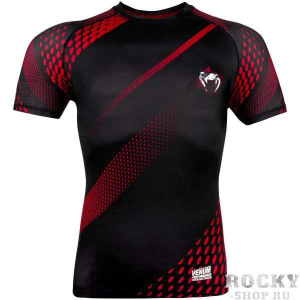 Купить Рашгард Venum Rapid Black/Red S/S (арт. 10425)