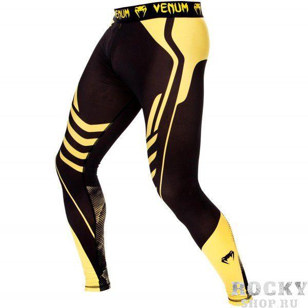 Компрессионные штаны Venum Technical Black/Yellow (арт. 10429)  - купить со скидкой