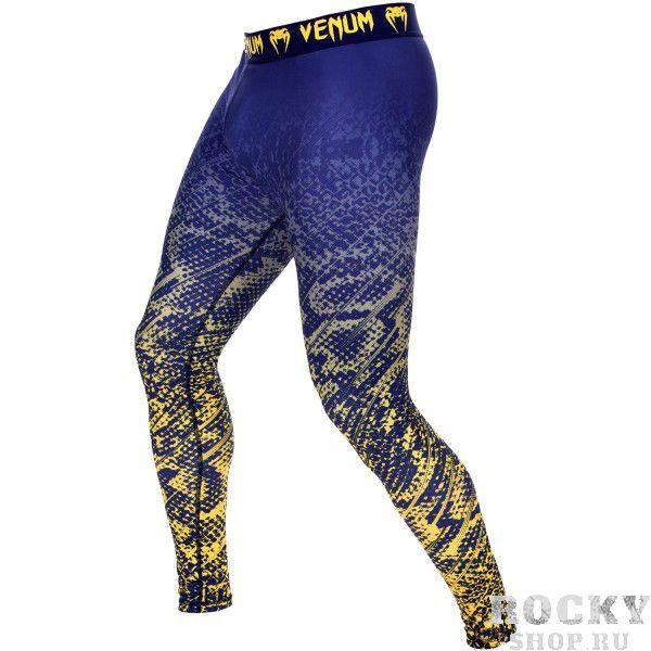 Компрессионные штаны Venum Tropical Blue/Yellow (арт. 10432)  - купить со скидкой