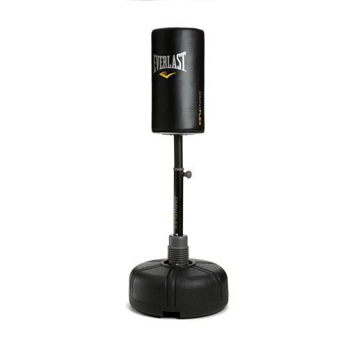 Груша на платформе Everlast Omniflex Fitness (33*63, 150-168см), Черная EverlastСнаряды для бокса<br>Напольная водоналивная груша. Мешок изготовлен из натуральной кожи. Усиленная штанга позволяет наносить сильные удары. Уникальный дизайн для разнообразных ударных тренировок. &amp;nbsp;Изменяемая высота мешка от 150 до 168 см.<br>