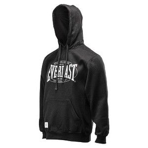 Толстовка с капюшоном Everlast Authentic, Черная EverlastТолстовки / Олимпийки<br>С внутренней стороны ткань с флисом. Низ изделия отделан трикотажем в рубчик в тон цвету толстовки. Логотип Everlast напечатан на груди. Состав модели в черном цвете: 55% хлопок, 45% полиэстер. Машинная стирка в холодной воде.<br><br>Размер INT: XL