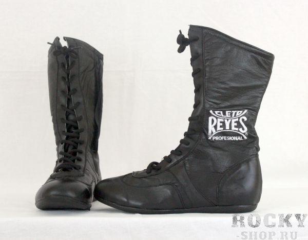 Детские боксерки высокие, Черные Cleto ReyesДля бокса<br>Материал - 100% кожа<br> Полиуритановые стельки и специальная конструкция подошвы смягчает ударную нагрузку на суставы<br> Идеально сидит на ноге<br><br>Размер: Размер 38