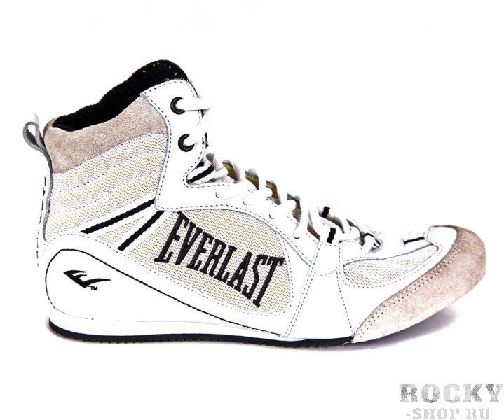 Детские боксерки Everlast Low-Top Competition, Белые EverlastДля бокса<br>Классические низкие боксерки от Everlast. Плотно фиксируют стопу, сохраняя максимум подвижности. Подошва, изготовленная из специальной эластомера, гарантирует максимальное сцепления даже с влажной поверхностью, а специальные амортизаторы EVA обеспечивают вам удобство и мягкость движений. Сделаны и прочной бархатистой кожи и нейлона согласно всем современным требованиям бокса.<br><br>Размер: 6.5