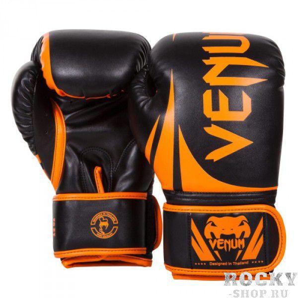 Купить Перчатки боксерские Venum Challenger 2.0 Neo Orange/Black 14 oz PSd-venboxglove048 (арт. 10663)