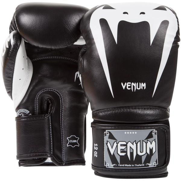 Купить Перчатки боксерские Venum Giant 3.0 Black Nappa Leather 14 унций (арт. 10703)