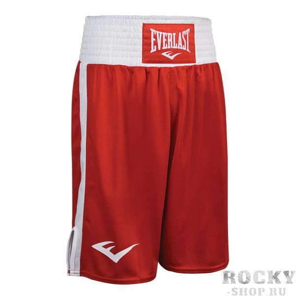 Детские трусы боксерские Everlast Elite, красно-белые EverlastДля бокса<br>Трусы боксерские ELITE продаются в наборе с майкой. Стоимость комплекта 2300 р.<br><br>Размер: 152 см