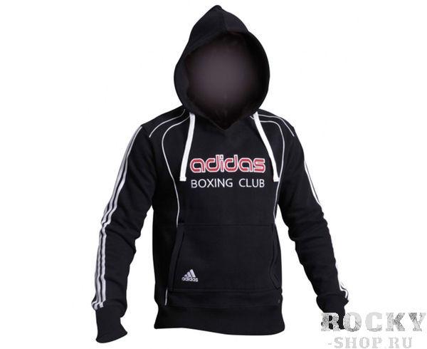 Детские толстовка с капюшоном (Худи) Hoody Sweat Boxing Club, черная AdidasДля бокса<br>Теплая толстовка с капюшоном, которая согреет во время тренировок в прохладную погоду. Эксклюзивная линейка COMBAT SPORT &amp;amp; MARTIAL ARTS. Специально разработанный adidas состав приятен на ощупь и прекрасно держит тепло. Свободный крой обеспечиваетсвободудвижения при тренировке. В кармане кенгуру удобно хранить мелкие предметы. Высокая доля хлопка обеспечивает повышенную износостойкость материала. Логотип adidas и надпись BOXING CLUB. Толстовку можно носить как на тренировках, так и в качестве повседневной одежды. Эксклюзивная линейкаCOMBAT SPORT &amp;amp; MARTIAL ARTS Материал angeraut Регулируемый капюшон со шнурком Рифленые манжеты и нижний край Крупный контрастный логотип adidas на лицевой стороне Карман кенгуру Состав: 80% хлопок, 20% полиэстер<br><br>Размер: S