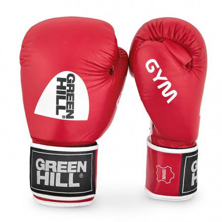 Детские перчатки боксерские GYM, 8 унций Green HillДля бокса<br>Натуральная кожа<br> Материал  набивки наивысшей плотности<br> Эргономика  перчатки на высоком уровне<br> Удобная  застёжка-липучка<br> Внутренний  слой из искусственной ткани<br><br>Цвет: Красный