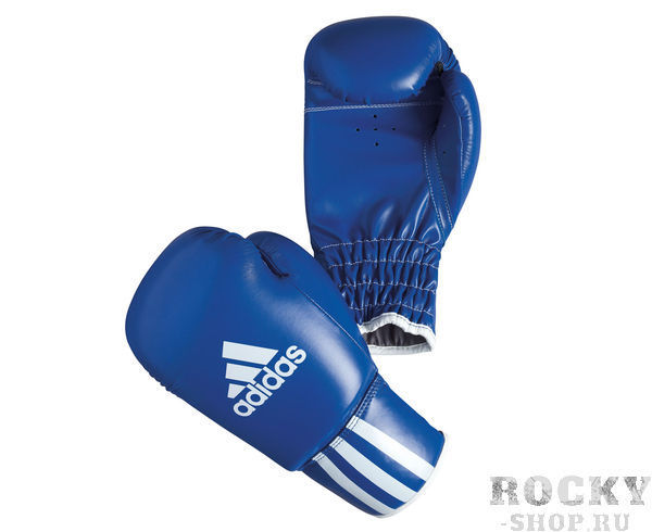 Купить Детские перчатки боксерские Rookie-2 синие Adidas 8 унций adiBK011 (арт. 10886)