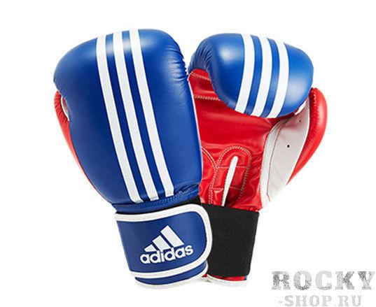 Купить Детские перчатки боксерские Response сине-красно-белые Adidas 8 унций (арт. 10895)
