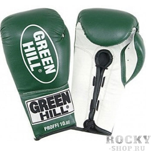 Детские боксерские перчатки Green Hill PROFFI, 8oz Green HillДля бокса<br>Материал: Натуральная кожаВиды спорта: БоксБоксерские перчатки Proffi. Верх сделан из натуральной кожи. Манжет на шнуровке.<br><br>Цвет: Зеленый