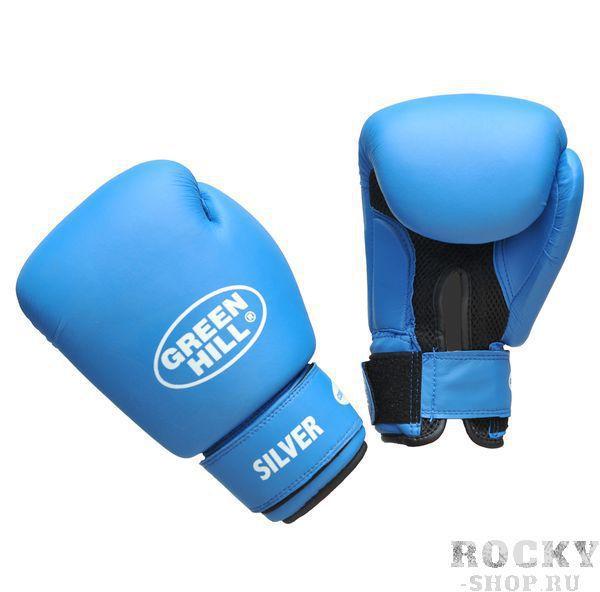Детские перчатки боксерские SILVER, 6 oz Green HillДля бокса<br>Боксерские тренировочные перчатки Silver . Сделаны из высококачественного кожзаменителя. Ладонь выполнена по технологии, которая позволяет руке дышать. Оптимальный вариант для легких спарингов и тренировок.<br><br>Цвет: красный