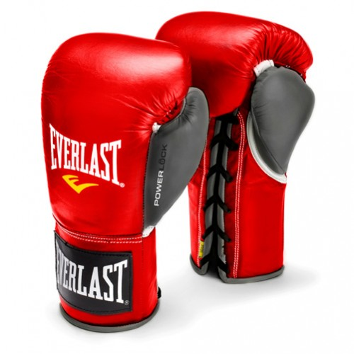 Детская экипировка для бокса Детские перчатки боевые Everlast Powerlock, 8oz EverlastДля бокса<br><br>