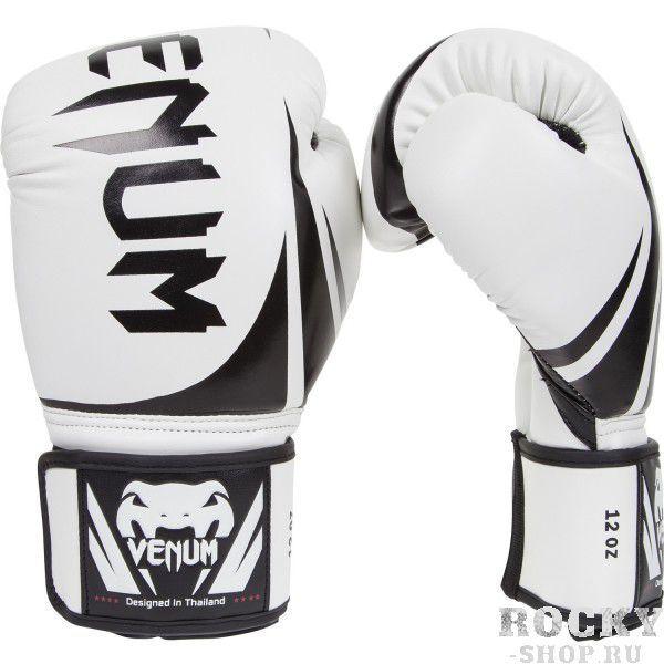 Детские перчатки боксерские Venum Challenger White, 8 унций VenumДля бокса<br>Перчатки боксерские Venum Challenger White - доступные, но без ущерба качеству, боксерские перчатки Venum Challenger 2. 0, разработанные в Тайланде - идеальный выбор для обучения ударной технике!Благодаря тройному слою пены и широкому ремню, достигается оптимальная степень защиты. Состоят из премиумной полиуретановой кожи (PU) - очень прочные и по отличной цене!Особенности:Из высококачественнойсинтетической кожиТройная плотность пены, для лучшей защиты. 100% полное прилегание большого пальца. Большая упругая липучка для лучшей фиксацииРельефный логотип VenumСделано в Тайланде<br>