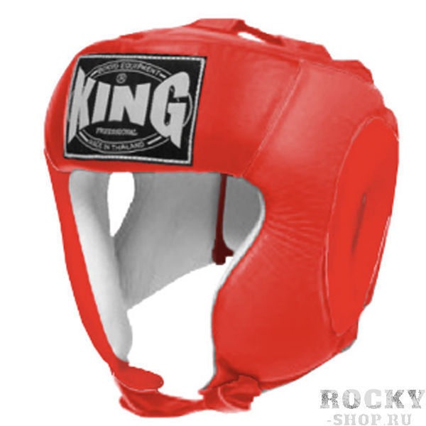 Детский шлем соревновательный, Размер S KingДля бокса<br>Полный охват головы (зашита)<br> Высококачественная кожа<br> Многослойный упругий материал<br> Широкое поле зрения<br><br>Цвет: Красный