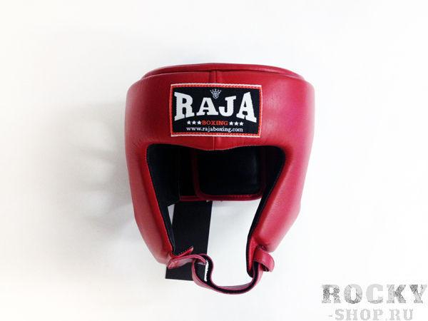 Детский боксёрский шлем соревновательный, Размер S RajaДля бокса<br>Идеально годится для соревнований  Отличная защита щек и подбородка<br><br>Цвет: красный
