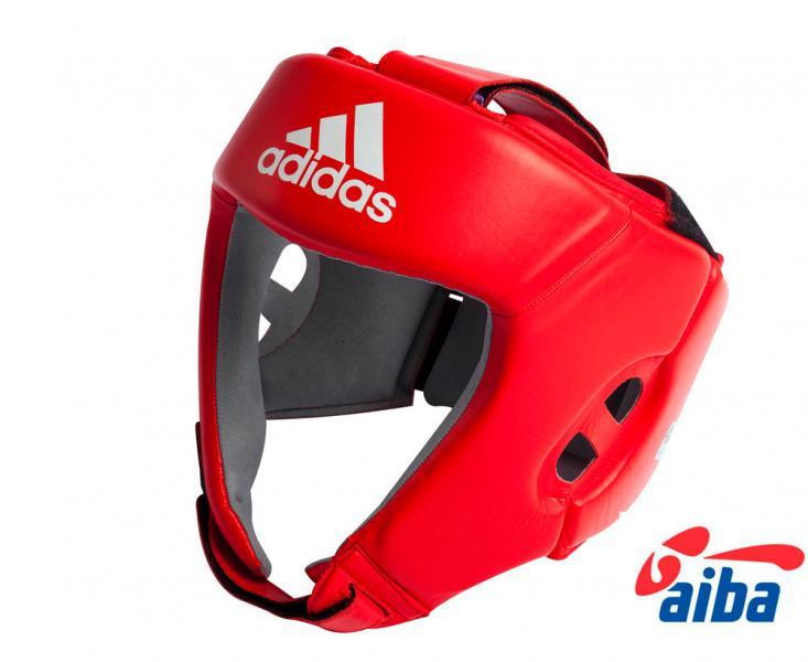Детский боксерский шлем для соревнований, Красный Adidas