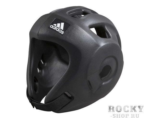 Детский шлем для единоборств Adizero (одобрен WAKO), черный AdidasДля бокса<br>Adidas Adizero - это однозначно лучший шлем в своем классе. Он предназначен для таких боевых искусств как бокс,тхэвондо , кик-боксинг (одобрен WAKO Всемирная ассоциация кикбоксинга), а так же для других видов контактных единоборств, где требуется гарантированная защита головы с непревзойденным удобством и комфортом. Изготовлен из ультра легкого и супер прочного амортизирующего, резинового материала по технологии Adidas. Внимание!!! В черном цвете, поставляется только с комплектом ремней WAKO, для регулировки шлема и спины для безопасной посадки.        Одобрен WAKO     Самый легкий шлеме в своем классе    Полностью литой корпус из инновационного материала.    Инновационный и эргономичный дизайн    Отверстия для вентиляции в верхней и боковых частях шлема.     Отлично амортизация    Простая и быстрая настройка ремней с нейлоновой липучкой для подбородка и спины.<br><br>Размер: XS