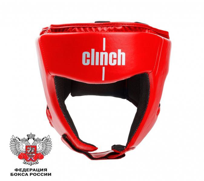 Детский боксерский шлем Clinch Olimp, красный Clinch GearДля бокса<br>Боксерский шлем Clinch Olimp. Официальный лицензионный боксерский шлем Федерацией Бокса России. Изготовлены из высококачественного эластичного полиуретана. Отводящий влагу современный материал, позволяет получить максимальный комфорт, регулировка с помощью липучек и шнуровки плотную фиксацию и обзор. Имеют голографическую наклейку Федерации Бокса России<br>