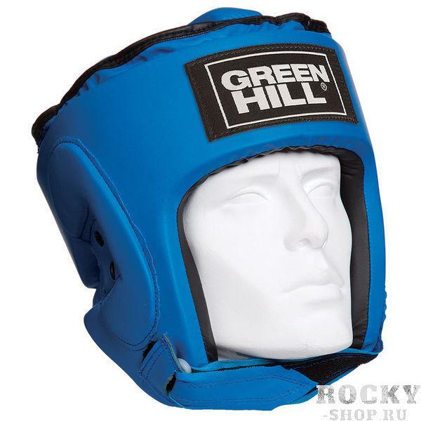 Детский шлем для бокса pro, Синий Green HillДля бокса<br>Материал: Искусственная кожаВиды спорта: БоксТренировочный шлем PRO Пошит из искусственной кожи. Двойная система крепления. Защита теменной области. Размер:Для выбора шлемов, ориентируйтесь на следующие данные:охват головы - размер48-53 см - S54-56 см - М57-60 см – L61-63 см - XL<br><br>Размер: S