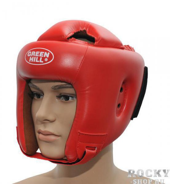 Детский шлем для бокса BRAVE, Красный Green HillДля бокса<br>Материал: Искусственная кожаВиды спорта: БоксШлем для бокса и кикбоксинга. Верх из искусственной кожи. Регулируемый обхват головы. Крепление сзади на резинке и липучке. Подкладка- искусственная замша. Размер:При подборе шлема следует также учесть, что размеры шлемов можно регулировать за счет специальных застежек. Для выбора шлемов, ориентируйтесь на следующие данные:охват головы - размер48-53 см - S54-56 см - М57-60 см – L61-63 см - XL<br><br>Размер: S