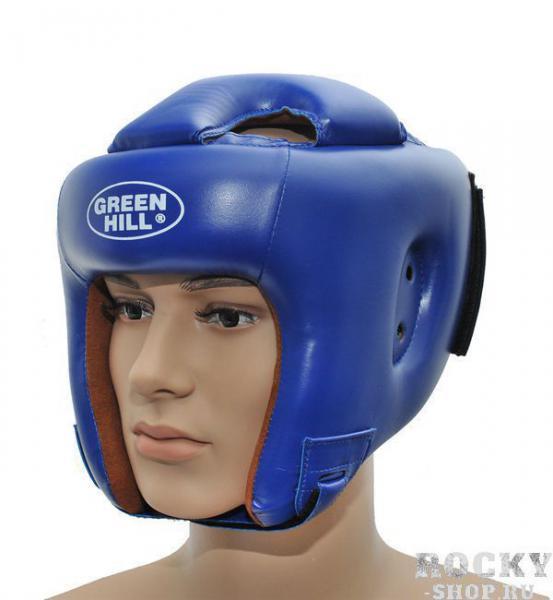 Детская экипировка для бокса Детский шлем для бокса BRAVE, Синий Green HillДля бокса<br>Материал: Искусственная кожаВиды спорта: БоксШлем для бокса и кикбоксинга. Верх из искусственной кожи. Регулируемый обхват головы. Крепление сзади на резинке и липучке. Подкладка- искусственная замша. Размер:При подборе шлема следует также учесть, что размеры шлемов можно регулировать за счет специальных застежек.Для выбора шлемов, ориентируйтесь на следующие данные:охват головы - размер48-53 см - S54-56 см - М57-60 см – L61-63 см - XL<br>