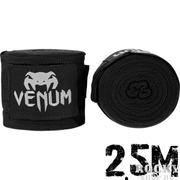 Купить Детские бинты боксерские Venum Kontact Boxing Handwraps 2,5 m - Black (арт. 11084)