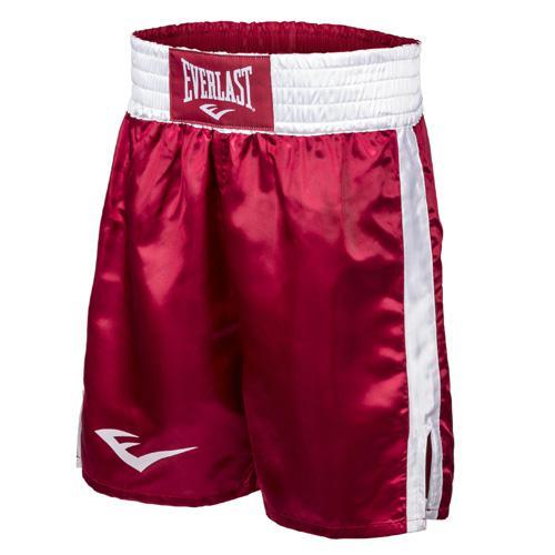 Шорты боксерские атласные Everlast, Красно-белые EverlastШорты для бокса<br>Трусы боксерские сделаны из первоклассного атласа. Широкий пояс гарантирует плотное облегание вокруг талии. Длина выше колена, высокие разрезы обеспечивают свободу движения боксера.<br><br>Размер INT: M