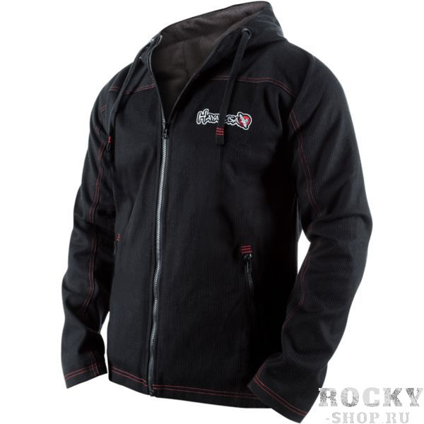 Куртка Hayabusa Uwagi Pro HayabusaКуртки / ветровки<br>Куртка Hayabusa Uwagi Pro. Представляем Вашему вниманию обновленную модель знаменитой куртки от Hayabusa - Uwagi Jacket. Эта модель может стать частью гардероба спортсменов занимающихся бразильским джиу джитсу, дзюдо, самбо так как она выполена на подобии хлопковой куртки вышеуказанных видов спорта. Модель претерпела некоторые изменения со времени своего первого релиза несколько лет назад. Инженерами и дизайнерами были учтены все недочеты, замечания и рекомендации самых требовательных клиентов, среди которых немало именитых спортсменов. Теперь подкладка выполнена из мягкого флиса - приятные ощущения при ежедневной носке просто гарантированы. Внешняя ткань осталась такой же прочной и износостойкой. Необходимо отметить, что сверху на куртку нанесен графический отражающийся узор, который видно и днем и ночью. Это элемент не только стиля, но и безопасности в темное время суток. Сама куртка выполнена из плотного тканного хлопка плотностью 550 г/м. Поэтому эта куртка вам быстрее надоест, нежели хоть немного изменит свой внешний вид. Эта куртка единственная в своем роде и не имеет аналогов на рынке. Дизайнерские молнии спереди и карманы, также выполненные на молниях, прекрасно работают и будут верно служить своему хозяину. Эмблемы Hayabusa вышиты на куртке плотными нитями, поэтому будут долго сохранять свой внешний вид.<br><br>Размер INT: M