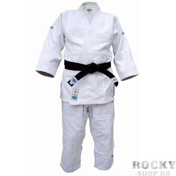 Детское кимоно для дзюдо olimpic (одобрено ijf 2011), 150 Green HillДля дзюдо<br>Материал: ХлопокВиды спорта: ДзюдоКимоно дзюдо. Материал: 100% хлопок. Одобрено международной федерацией дзюдо IJF. Кимоно предназначено для использования на соревнованиях высшего уровня. Конструктивная особенность нити делает материал, из которого пошито кимоно, чрезвычайно крепким, почти не поддающимся усадке после стирки (+-2%). Кимоно также усилено двойными швами на плечах, рукавах и груди. Толщина воротника- 1 см, ширина воротника- 4-5 см. Плотность ткани: 950гр. /м2.<br><br>Цвет: Белый