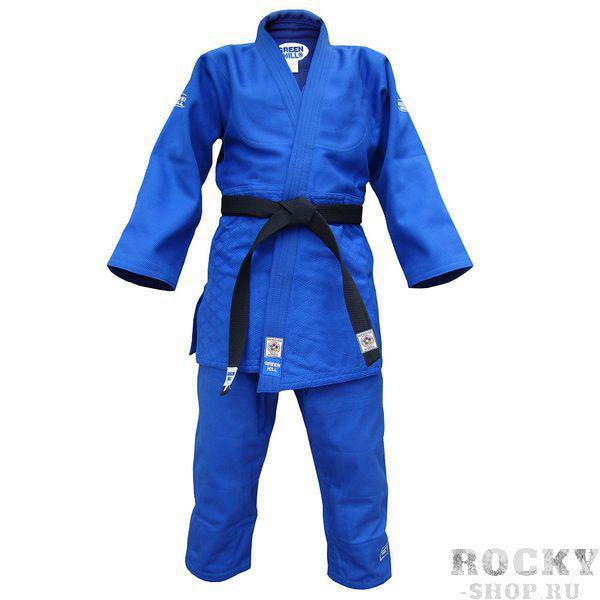 Детское кимоно для дзюдо OLIMPIC (одобрено IJF 2011), 150 Green HillДля дзюдо<br>Материал: ХлопокВиды спорта: ДзюдоКимоно дзюдо. Материал: 100% хлопок. Одобрено международной федерацией дзюдо IJF. Кимоно предназначено для использования на соревнованиях высшего уровня. Конструктивная особенность нити делает материал, из которого пошито кимоно, чрезвычайно крепким, почти не поддающимся усадке после стирки (+-2%). Кимоно также усилено двойными швами на плечах, рукавах и груди. Толщина воротника- 1 см, ширина воротника- 4-5 см. Плотность ткани: 950гр. /м2.<br><br>Цвет: Синий