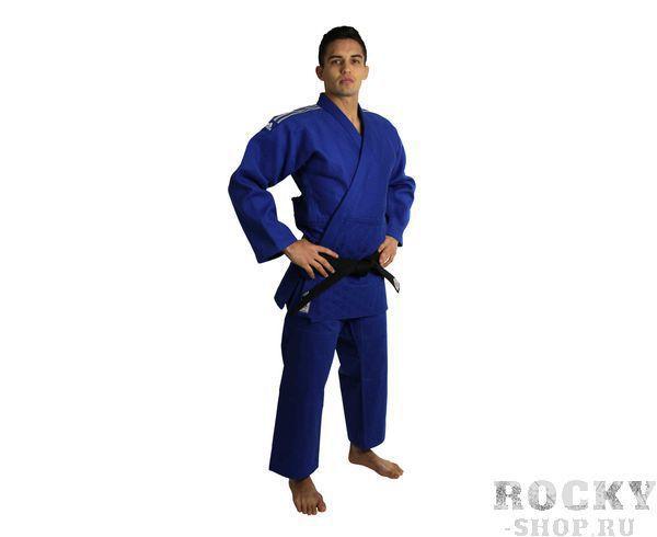 Детское кимоно для дзюдо Champion 2 IJF, синее AdidasДля дзюдо<br>Champion 2 IJF синее. Кимоно для дзюдо в соответствии с новыми, 2015 года правилами IJF (плотность, рукав, воротник, брюки), сертифицировано IJF. Плотность ткани- 730 грамм на м2(соответствует новым стандартам IJF 2015) Состав ткани: 75% хлопок, 25% полиэстер Отворот воротники в 4 строчки Pre-shrunk technology (Противоусадочная технология)<br><br>Размер: 150 см