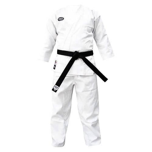 Детское кимоно карате KUMITE, одобрено WKF, 150 Green HillДля карате<br>Материал: ХлопокВиды спорта: КаратэЛегкое кимоно для каратэ (кумитэ) из полусинтетической ткани. Одобрено WKF. Длинная просторная куртка с двойной строчкой. Длинные брюки крепятся вставным шнуром. Многострочная прошивка всех кромок. Производство: Green Hill (Пакистан). Материал: поликоттон (70% хлопка и 30% синтетики) плотностью 230 г/м (8 унций)Комплектация: куртка и брюки, без пояса. В комплект не включен белый пояс, т. к. он не всегда нужен. Белый, цветной или черный пояс, с вышивкой или без, можно заказать отдельно.<br><br>Цвет: Белый