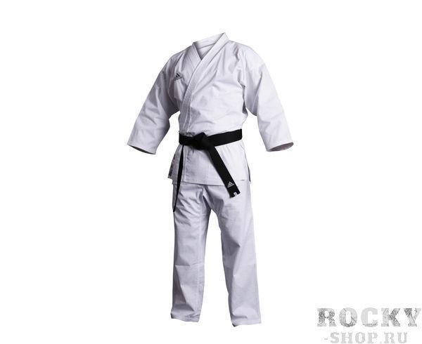 Детское кимоно для карате Combat WKF, белое AdidasДля карате<br>Кимоно для карате adidas Combat WKF белое.                   Легкая, гибкая и прочная ткань.           Специально усиленные метса в облостях с высокой нагрузкой.           Материал: 70%-хлопок, 30%- полиэстер.<br>