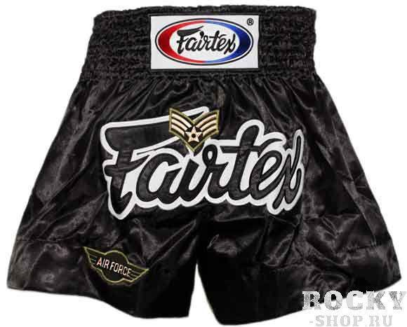 Детские шорты для тайского бокса Fairtex Air Force FairtexДля тайского бокса<br>Строгая, сдержанная модель шорт Fairtex для тайского бокса. BS0622 удобны для тренировок и профессиональных боев. <br><br>Ручная работа - Fairtex Thailand. <br>Материал - сатин<br>Цвет&amp;amp;nbsp;- черный<br><br>Размер: S