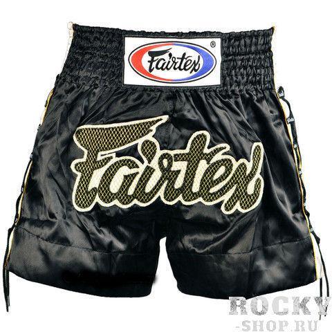 Купить Детские шорты для тайского бокса Fairtex GOLD MESH черные (арт. 11236)