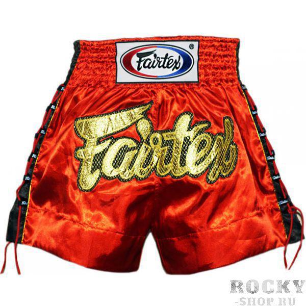 Купить Детские шорты для тайского бокса Fairtex GOLD MESH красные (арт. 11237)