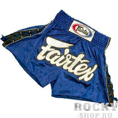 Купить Детские шорты для тайского бокса Fairtex GOLD MESH синие (арт. 11238)
