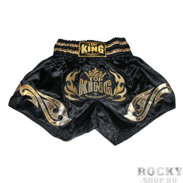 Купить Детские шорты для Тайского бокса Top King черный/золото (арт. 11259)