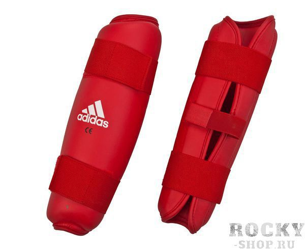 Купить Детские защита голени PU Shin Guard красная Adidas (арт. 11335)
