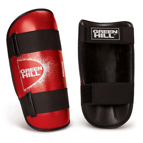 Детские защита голени PANTHER, размер S, S Green HillДля тайского бокса<br>Материал: Искусственная кожаВиды спорта: Кикбоксинг, Таэквондо, КаратэДлина 29,5см, ширина 16м, толщина защитной подушки 4см. Защита выполнена из искусственной кожи<br><br>Цвет: Красный