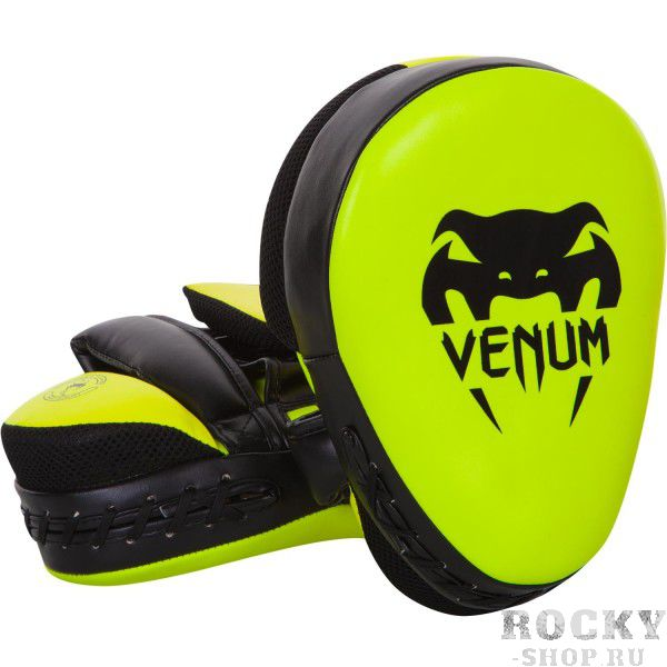 Лапы Venum Punch Mitts Cellular 2.0 Neo Yellow (пара)