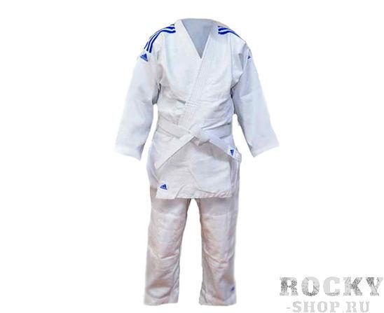 Кимоно для дзюдо Kids белое, 150 см AdidasЭкипировка для Дзюдо<br>Детское кимоно для дзюдо adidas.     Легкая, гибкая и очень прочная ткань специально разработанная для детей.   Верхняя часть куртки усиленна вставками из мелкозернистой ткани.   Идеальный вариант для начинающего спортсмена  Материал: 60% хлопок, 40% полиэстер.<br><br>Цвет: белое