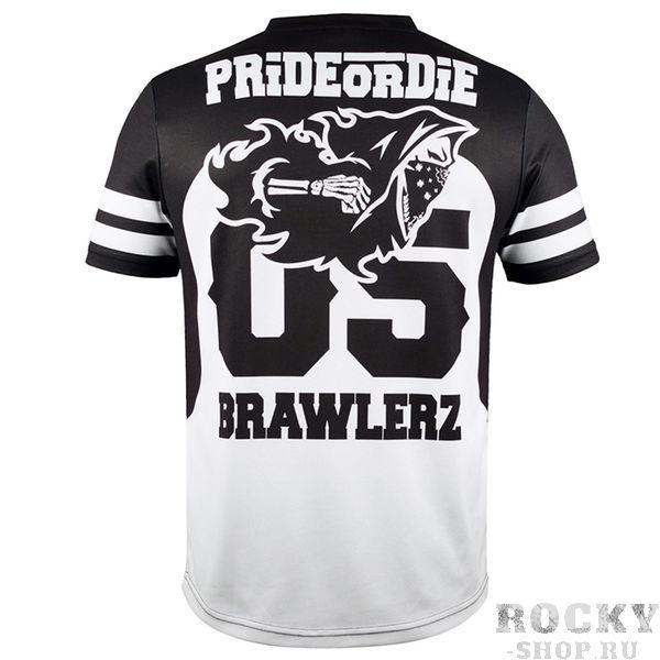 Купить Тренировочная футболка PRiDEorDiE Tee Brawlerz Black White (арт. 11480)