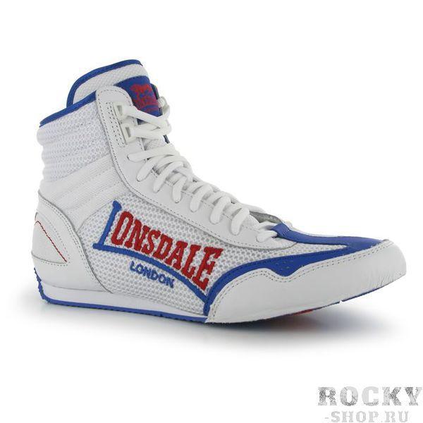 Купить Боксерки Lonsdale Contender White/Blue (арт. 11492)
