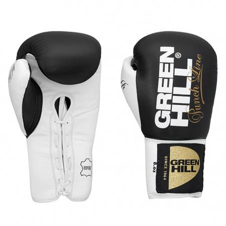 Боксерские перчатки Green Hill PROFFI 2, 8 OZ Green HillБоксерские перчатки<br>Новинка 2016 года!Очень удобные боксерские перчатки. Для тренировок и поединков. Натуральная кожа. Манжет на шнуровке.<br><br>Цвет: черный/белый