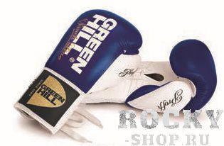 Боксерские перчатки Green Hill PROFFI 2, 14 OZ Green HillБоксерские перчатки<br>Новинка 2016 года!Очень удобные боксерские перчатки. Для тренировок и поединков. Натуральная кожа. Манжет на шнуровке.<br><br>Цвет: синий/белый