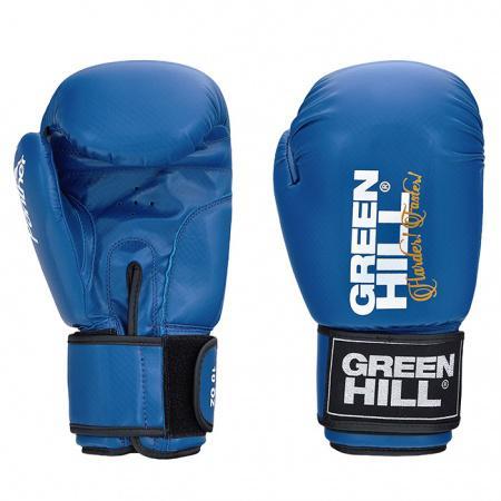 Боксерские перчатки Green Hill Panther, 10 oz Green HillБоксерские перчатки<br>Боксерские перчатки Panther.Верх сделан из искусственной кожи, вкладыш-предварительно сформированный пенополиуретан.Манжет на «липучке».В перчатках применяется технология Антинакаут.Перчатки применяются как для соревнований, так и для тренировок.<br>